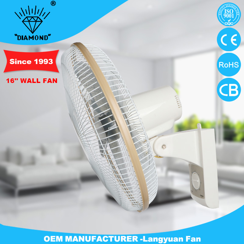 Family practical cheap 16'' orient good lifetime wall mounted fans