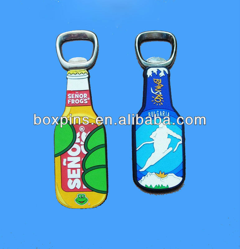 bottle opener rubber 3D fridge magnet