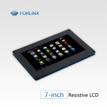 7-inch Display with Resistive Touch Panel and Driver Board for Single Board Computer