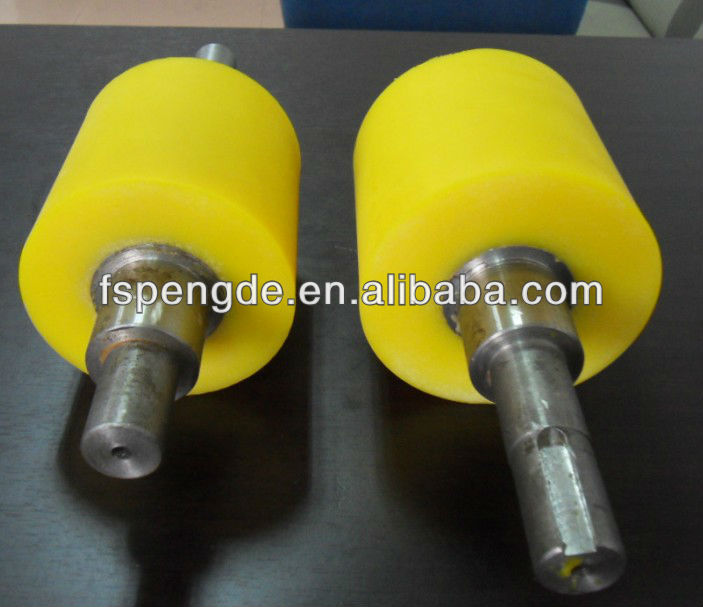 pu/rubber coated roller wheels