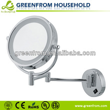Wall-mounted LED double sided wall mirror bracket