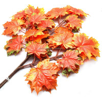 SJ227004 tree leaevs made in China hot sell maple leaves artificial