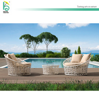 outdoor furniture round rattan wicker sofa garden sofa sets single sofa