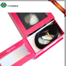 2017 hot sale aluminum custom made window box for hair extension