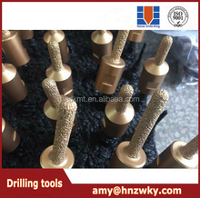 Longlife Using Vacuum Brazed Diamond finger bits and diamond router bits and diamond milling cutter for marble, limestone
