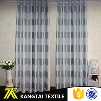 Polyester stripe blackout curtain fabric for windows decoration
