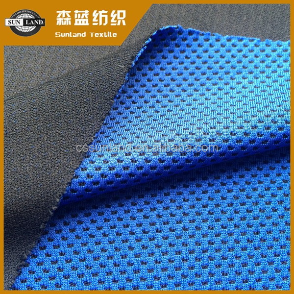 polyester yarn dyed coolness mesh fabric for sports towel