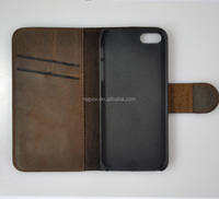 2014 New Book Style PC and Genuine Leather Case for Iphone 5 5s with Card Slots