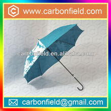 magic color change straight umbrella with leather handle