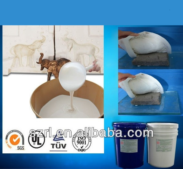 liquid silicone for cement bricks mold making, concrete brick moulding