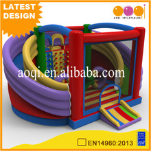 AOQI design cheap inflatable sports toy inflatable circle slide fun city for amusement park