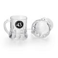 longrun cheap price glass cup mini beer mug shot glass with unique handle
