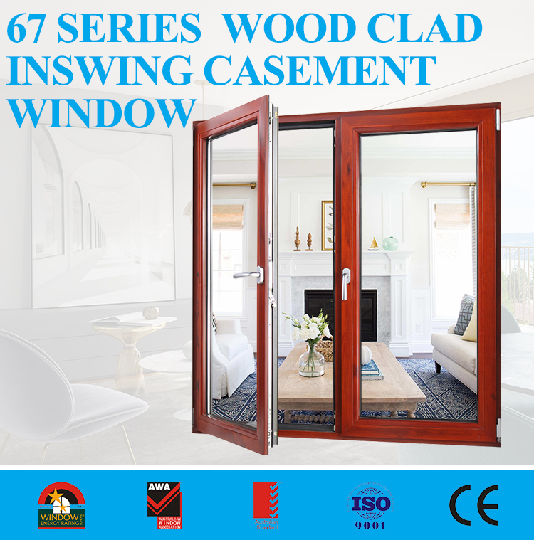 Cheap exterior aluminum profiles for casement wood french window malaysia
