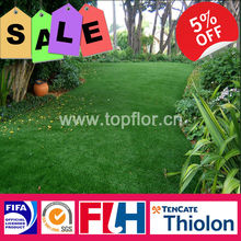 High density artificial grass covering for landscaping