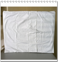 100% cotton envelope style plain solid color hospital white pillow case/cover