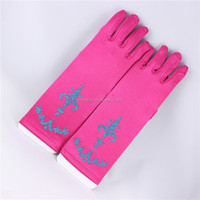 Sex kids elas gloves for dress up party frozen gloves QCGV-5077