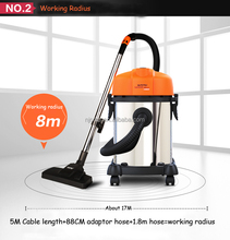 10L/15L 1200W industrial outdoor and home wet dry vacuum cleaner