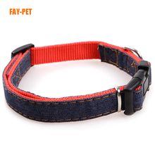 Fashion Jean decorative dog collars pet products factory custom specialized dog collars