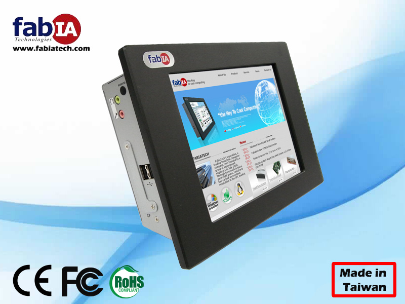 FP8084T, 8.4 inch industrial touch screen Panel PC Linux