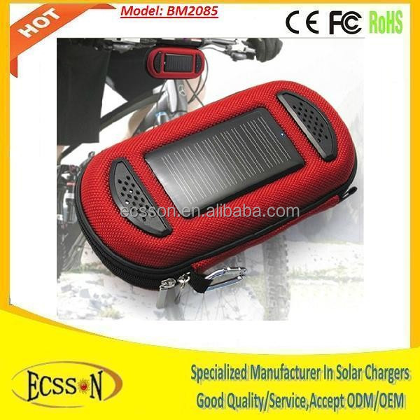 Newest practical solar panel bag, solar charger 2000mah, solar speaker for radio and music