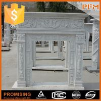 natural marble hand made fireplace wood stove insert