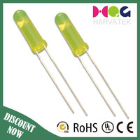 High bright through hole package type 3mm 4mm orange green led diffused
