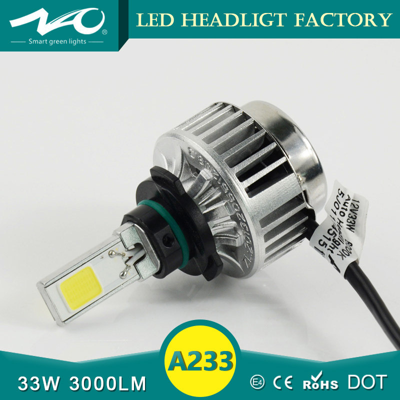 A233 LED automobiles & motorcycles Lights 9005 car led headlight auto Head lamp Yellow White Color