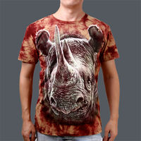 2015 Cheap Wholesale animal print 3d cotton t-shirts