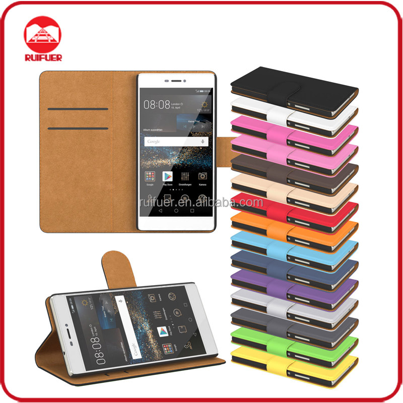 Manufacturer Wholesaler Mobile Phone Stand Book Style Leather Wallet Flip Case for Huawei Ascend G750