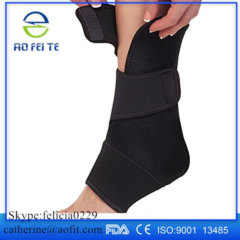 New style soft stretch ankle brace orthosis zipper up ankle foot Ankle Wrap