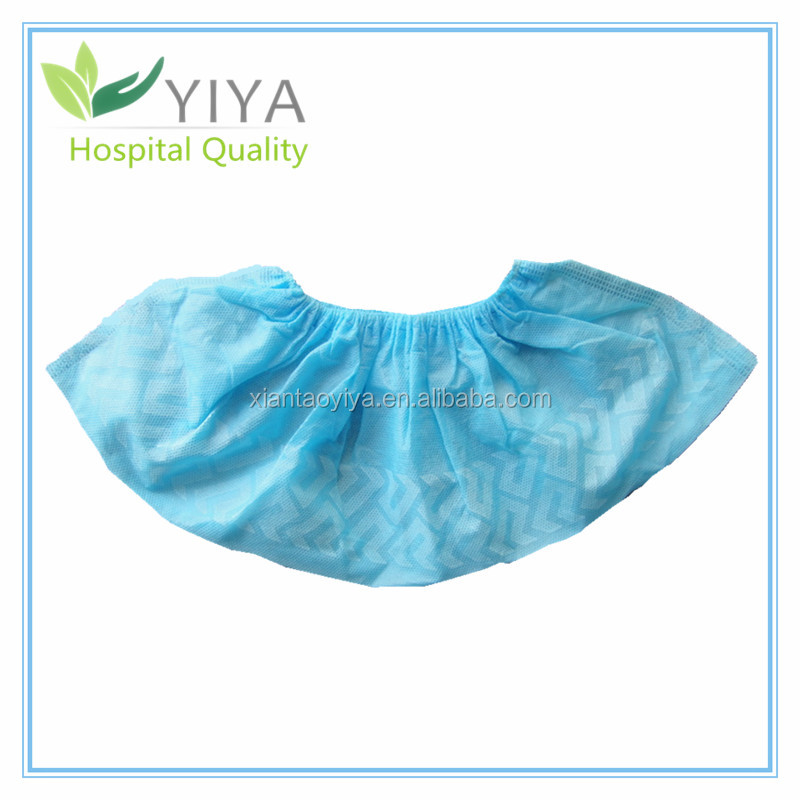 Disposable Polypropylene Shoe Cover, disposable overshoe for Medical Supplies, low price hot sale disposable no skid shoe cover