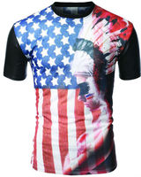 Best-Selling Manufacturers fashion rock S--XXXL us flag t-shirt