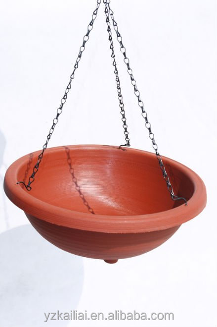 kailai plastic hanging colorful flowerpot