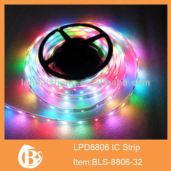 5M Magic Dream color 8806 6803 IC 133 Change 5050 RGB LED Strip Epoxy Waterproof 12V