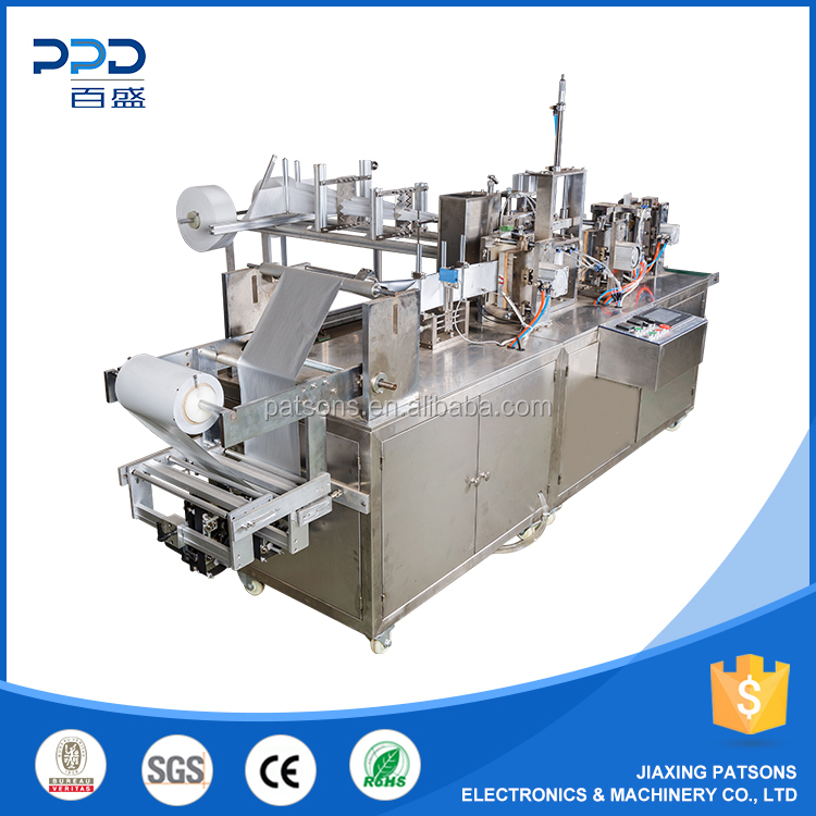 New Model Customized Four Side Seal Towelette Bag Making Machine