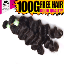 New Glueless west kiss hair weave with stocking cap,virgin indian spiral wave hair shopping
