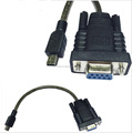 DB9 RS232 male to Mini USB B male cable with chipset PL2303RA