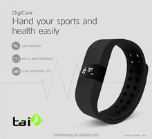 ERI Smart Bracelet smartband Waterproof LED Touch Screen Smart Watch Anti-lost Thermometer Measuring support Bluetooth