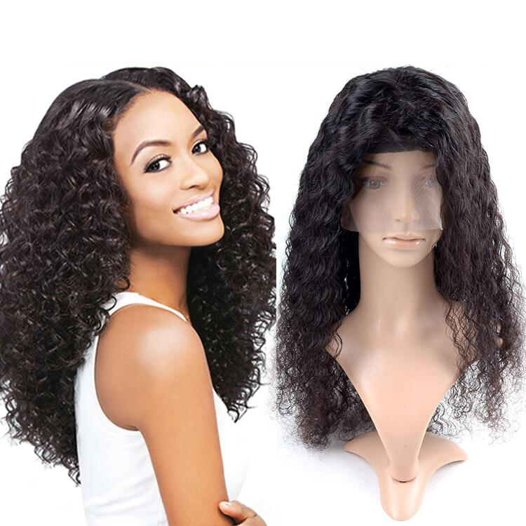 Indian 120 Density Short Curly Full Lace Wig 100 Human