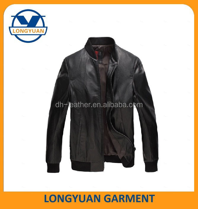 men jacket blazer black men leather jacket with opening pocket
