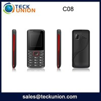 C08 1.77 inch low price simple with soft keypad mobile phones support FM