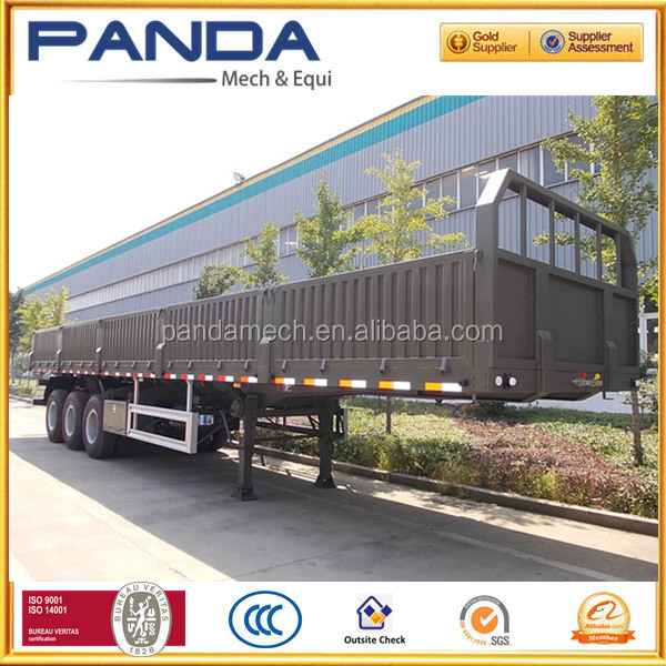 PANDA Side Wall Open 40Ft Flatbed Container Cargo Truck Trailer with BPW Axle