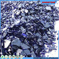 Mass supply amber frosted tumbled glass for garden baoshi blue tumbled glass for landscaping