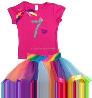 Girls Boutique tutu dress Clothing set colorfull dress