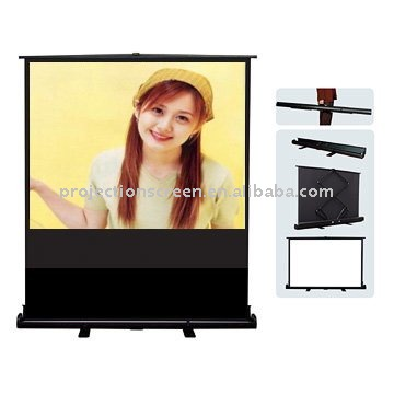 Future Portable floor up projector screen for business equipment