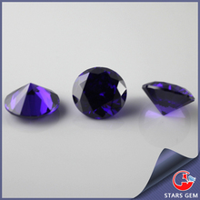 round amethyst synthetic cz gems buyers in china
