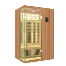Well Designed luxury red pine wood sauna steam room lowes infrared control panel
