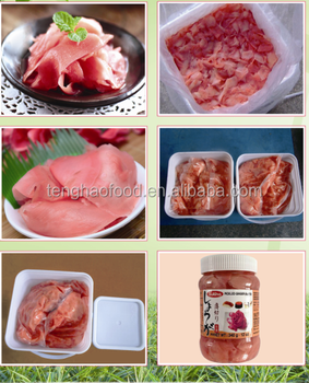 Grade A pickled sushi ginger with 1kg bag packing to Russia and Brazil