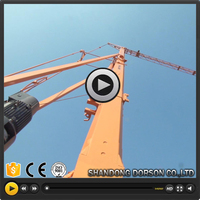 Jib length 65m,tip load 1.8t,max load 10 tons 6518 topless tower crane for building