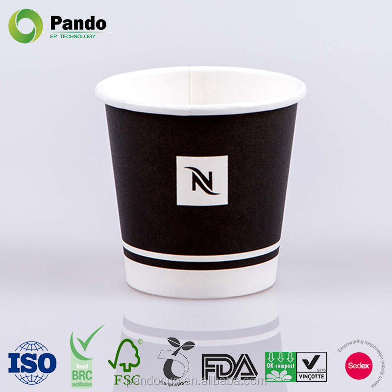 Disposable coffee Nespresso paper cups